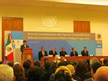 La Secretaría de Gobernación conmemora 20 años de reformas constitucionales en materia religiosa