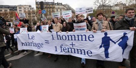 multitudinarias manifestaciones contra el matrimonio homosexual