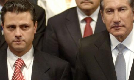 El presidente Peña Nieto con su tío Arturo Montiel