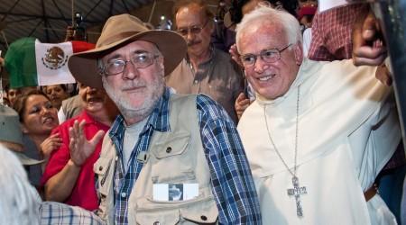 El obispo Vera se ha solidarizado con muchas causas sociales, entre ellas, la que encabeza Javier Sicilia