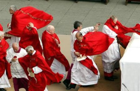 Cardenales a contramano con el viento