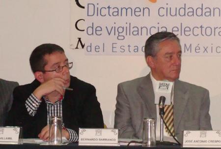Jenaro Villamil y Bernardo Barranco en otro foro.