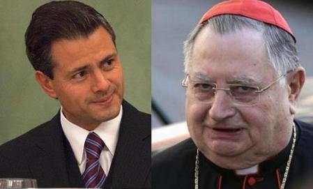 Cardenal Giuseppe Bertelo se, ex nuncio en México, se reunión a nombre de la Santa Sede con el presidente Peña Nieto