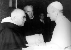 El dominico Lebret con Paulo VI en los tiempos del Concilio, hace cerca  de 50 años