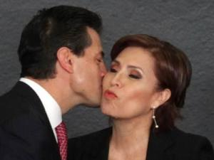 Cruzada contra el Hambre, Presidente Peña Nieto con la secretaria de Desarrollo Social Rosario Robles