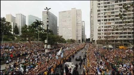 Convocatoria masiva en Río de Janeiro para recibir  al Papa Francisco
