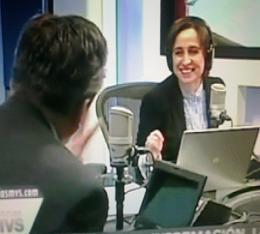 Bernardo Barranco con Carmen Aristegui MVS