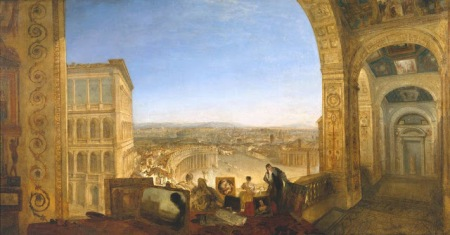 El mundo desde el vaticano. Joseph Mallord William Turner (1820)