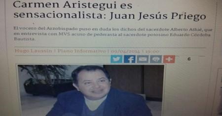 Hasta hace unas semanas la arquidiócesis negaba todo. Incluso descalificó a Carmen Aristegui como sensacionalista y Alberto Athié de resentido.