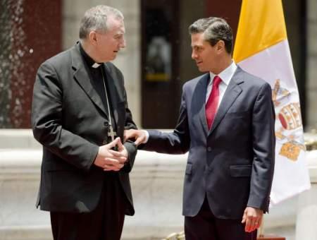 Cardenal Pietro Parolin, secretario de Estado, visita México. Julio de 2014