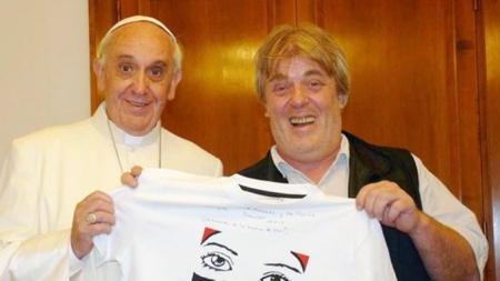 El Papa Francisco con su amigo Gustavo Vera quien publicó el e-mail