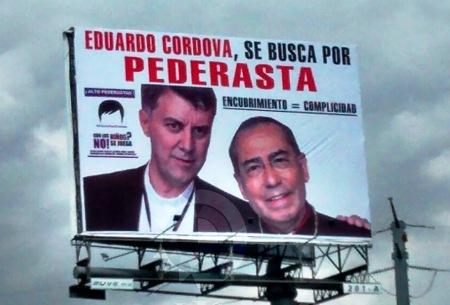 El sacerdote pederasta Eduardo Córdova con su protector el obispo Luis Morales Reyes