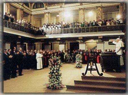 Juan Pablo II en la Universidad de La Habana