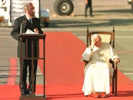 Fidel Castro y Juan Pablo II duelo de carismas
