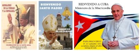 Cuba ha sido visitada por tres pontífices en 20 años