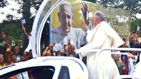 Con Francisco entusismo popular en La Habana