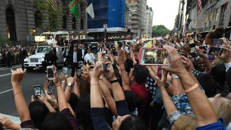 Papa Francisco en las calles de Nueva York
